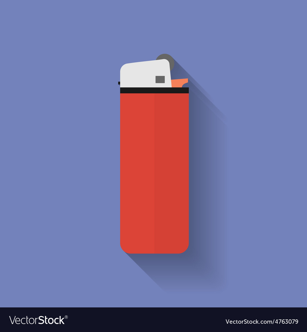 Icon of lighter flat style vector | Price: 1 Credit (USD $1)