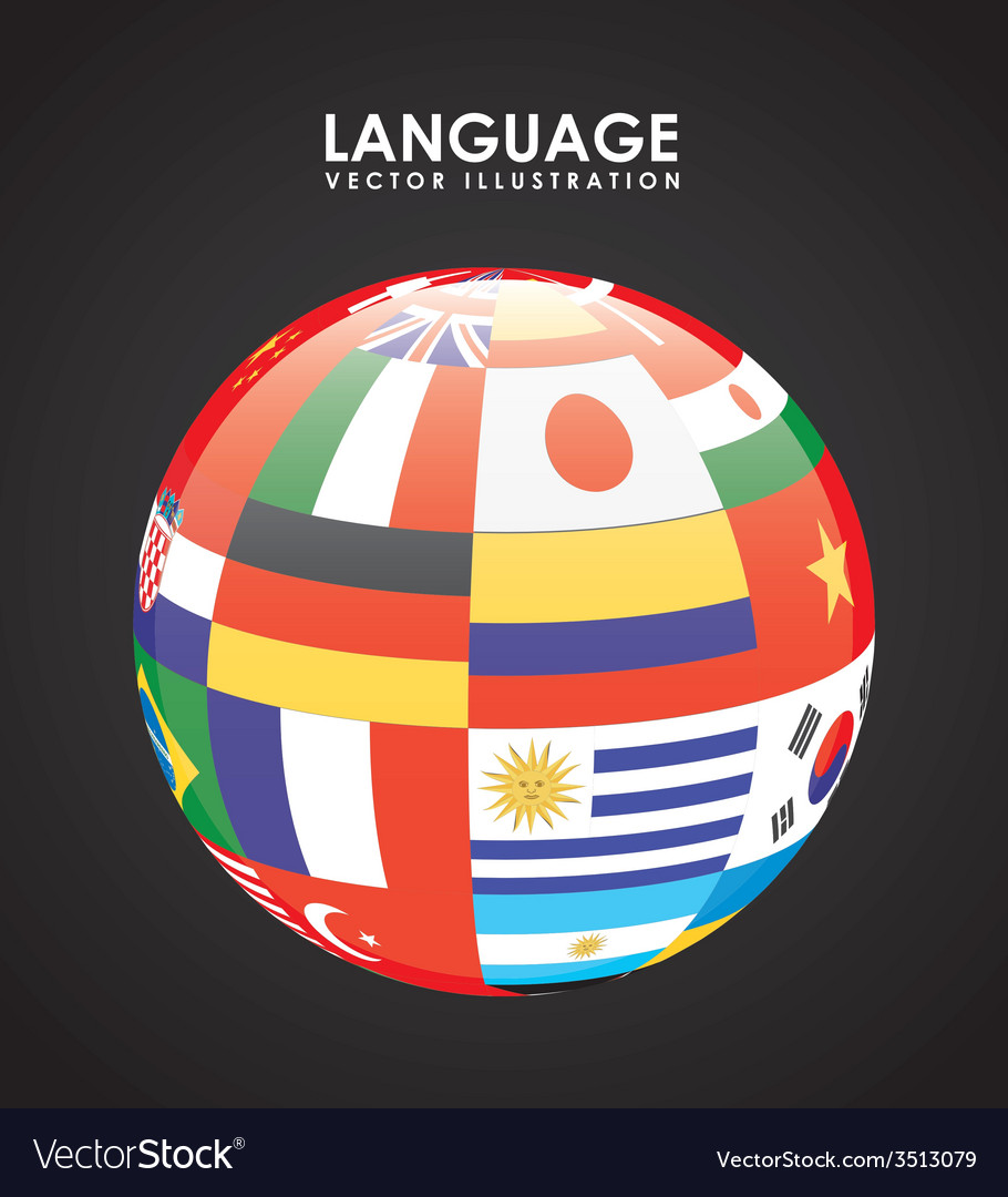 Language poster design vector | Price: 1 Credit (USD $1)