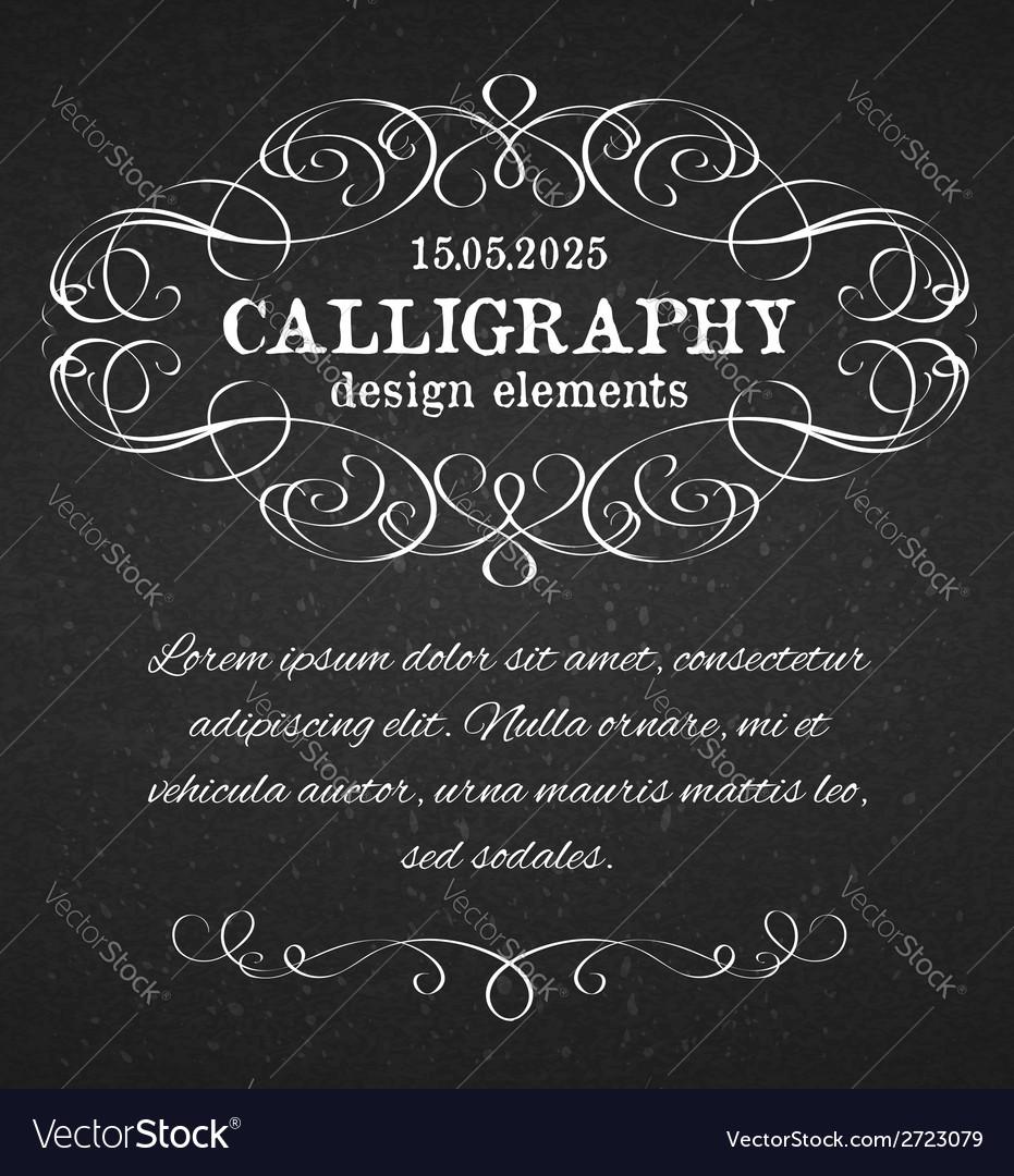 Page decoration calligraphic design elements vector | Price: 1 Credit (USD $1)