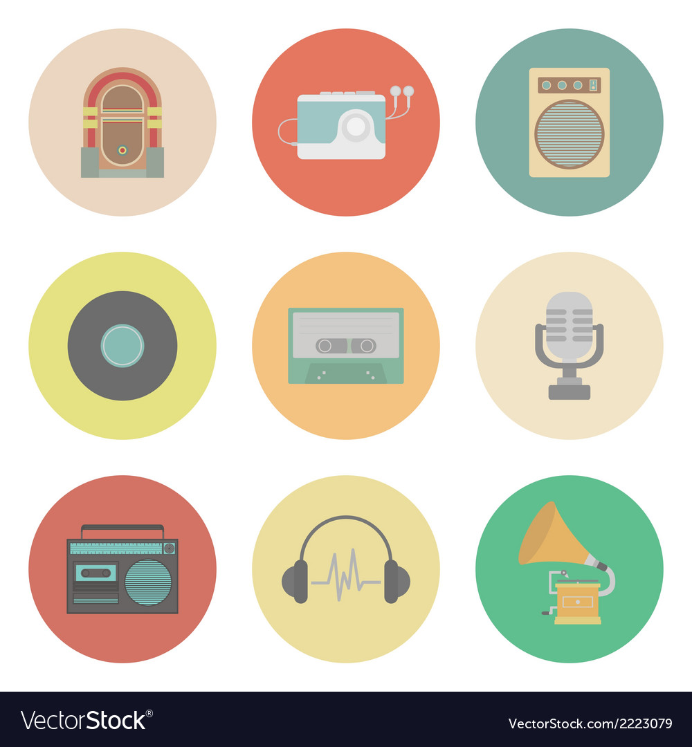 Retromusic vector | Price: 1 Credit (USD $1)