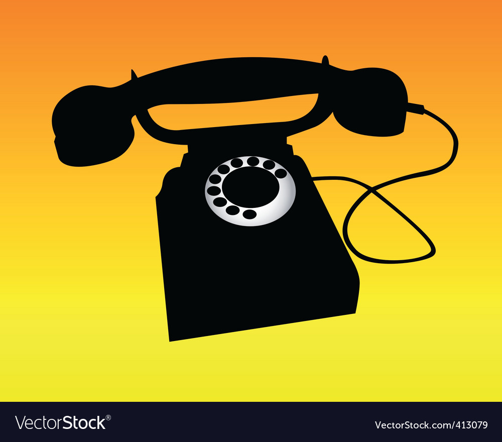Silhouette of a telephone vector | Price: 1 Credit (USD $1)