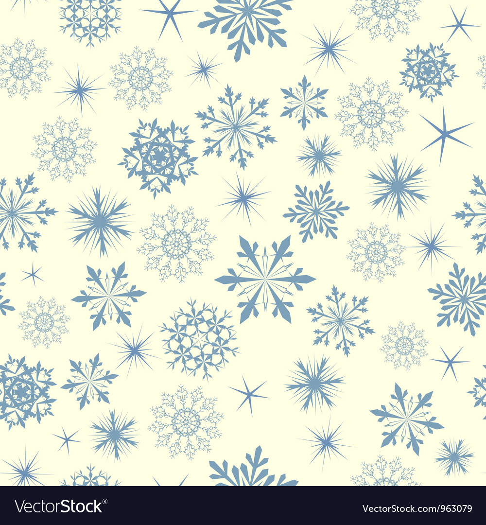 Snowflakes seamless vector | Price: 1 Credit (USD $1)