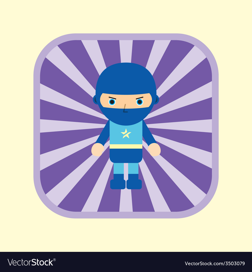 Superhero cartoon vector | Price: 1 Credit (USD $1)