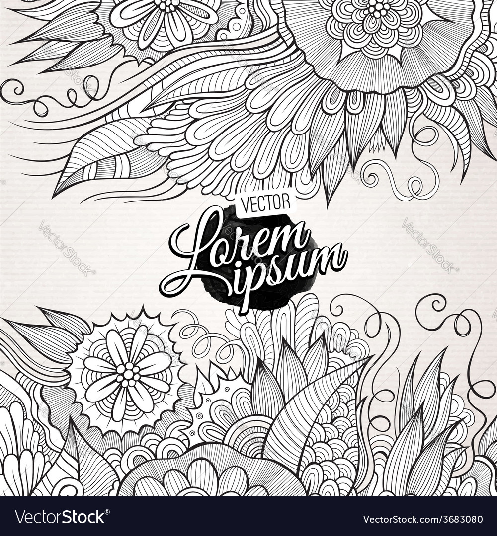 Abstract decorative nature background vector | Price: 1 Credit (USD $1)