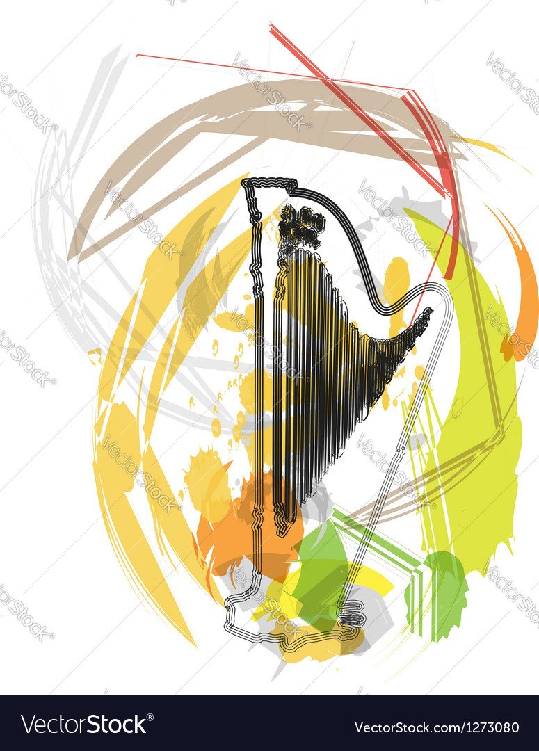 Abstract harp vector | Price: 1 Credit (USD $1)