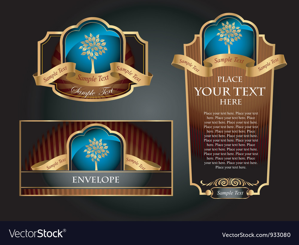 Brown decorative set vector | Price: 3 Credit (USD $3)