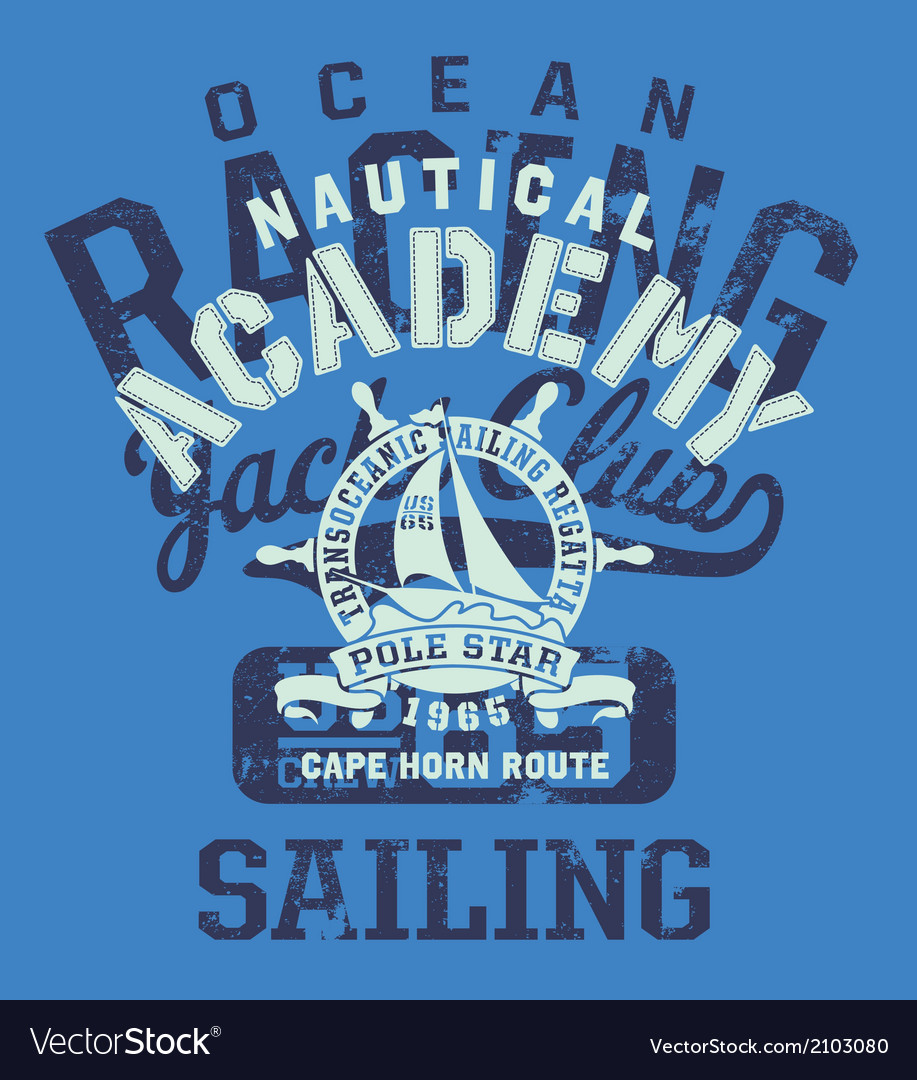 Cape horn sailing regatta vector | Price: 1 Credit (USD $1)