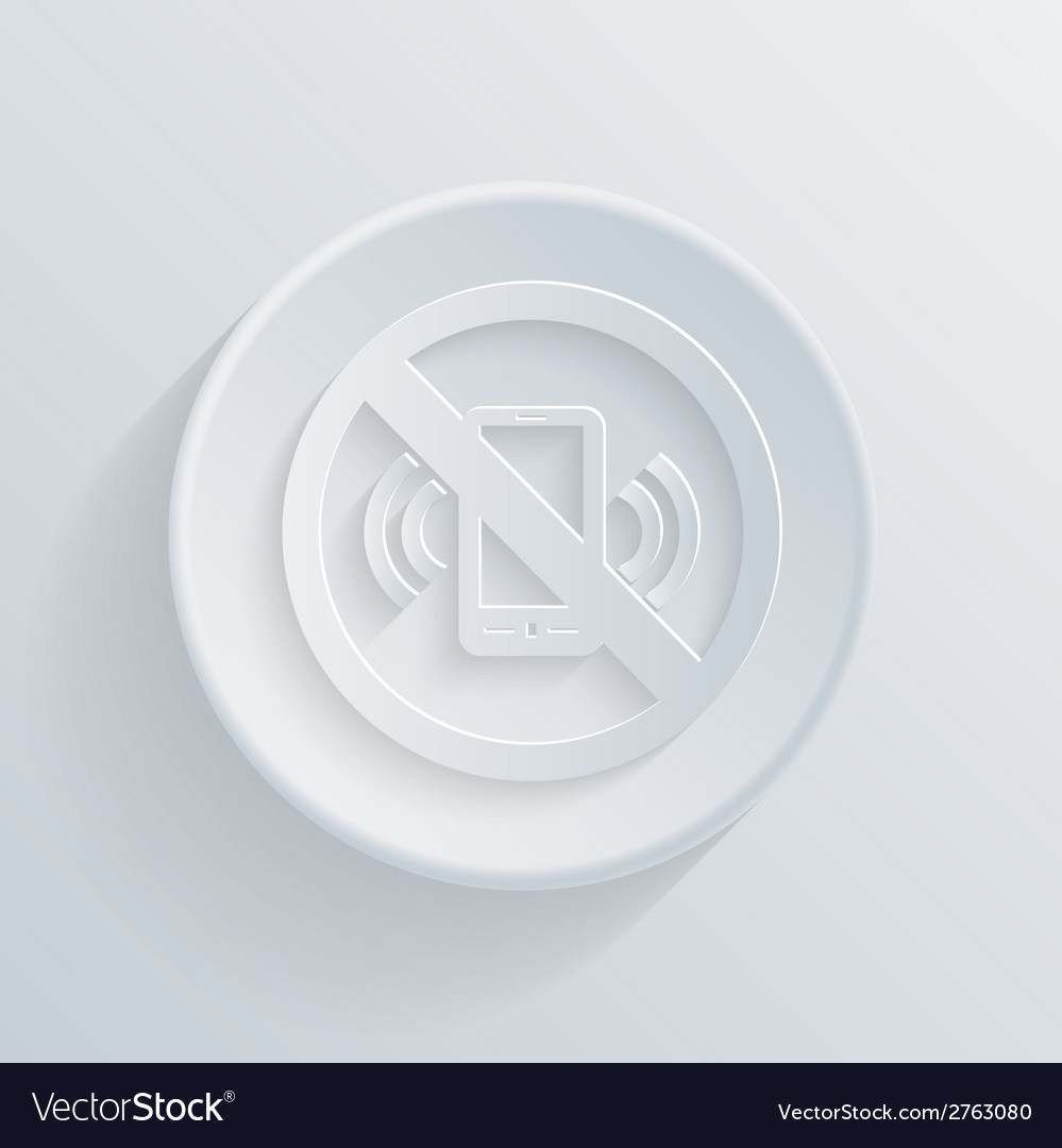 Circle icon forbidden to use mobile phone vector | Price: 1 Credit (USD $1)