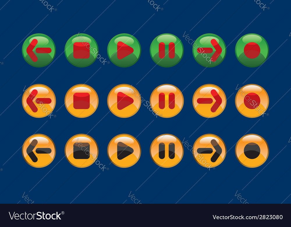 Contrasting buttons vector | Price: 1 Credit (USD $1)