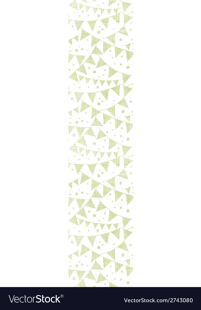 Green textile party bunting vertical seamless vector | Price: 1 Credit (USD $1)