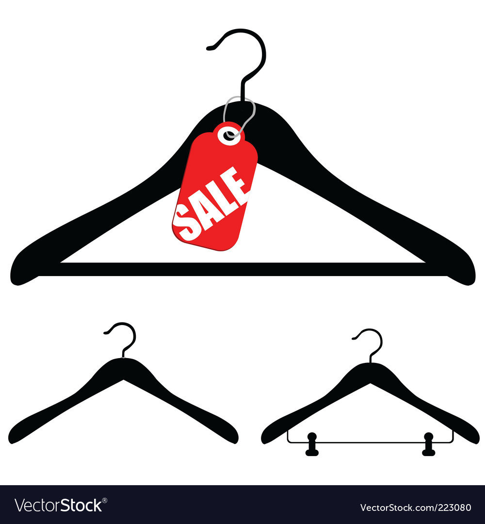 Hangers with sale vector | Price: 1 Credit (USD $1)