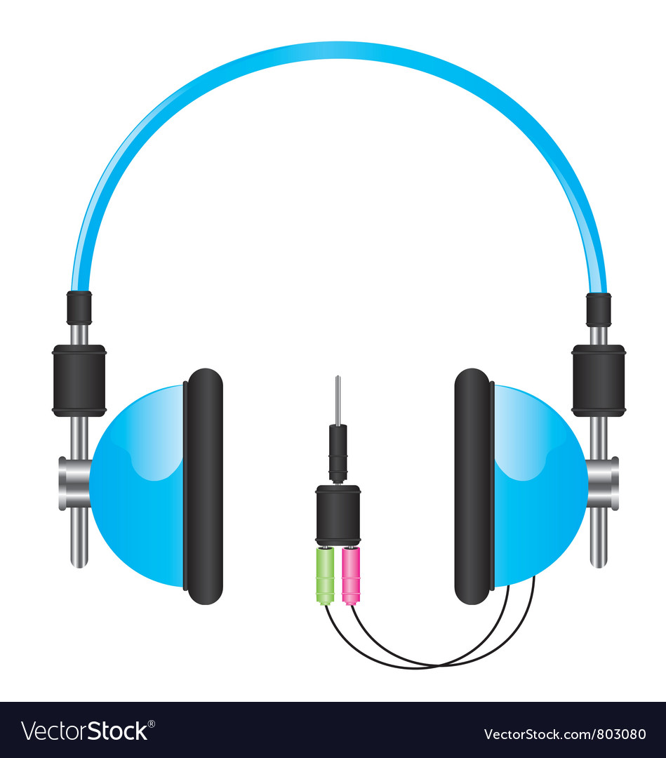 Headphones blue vector | Price: 3 Credit (USD $3)
