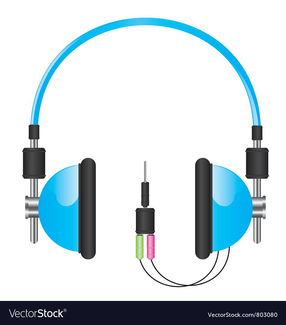 Headphones blue vector | Price: 3 Credit (USD $3)