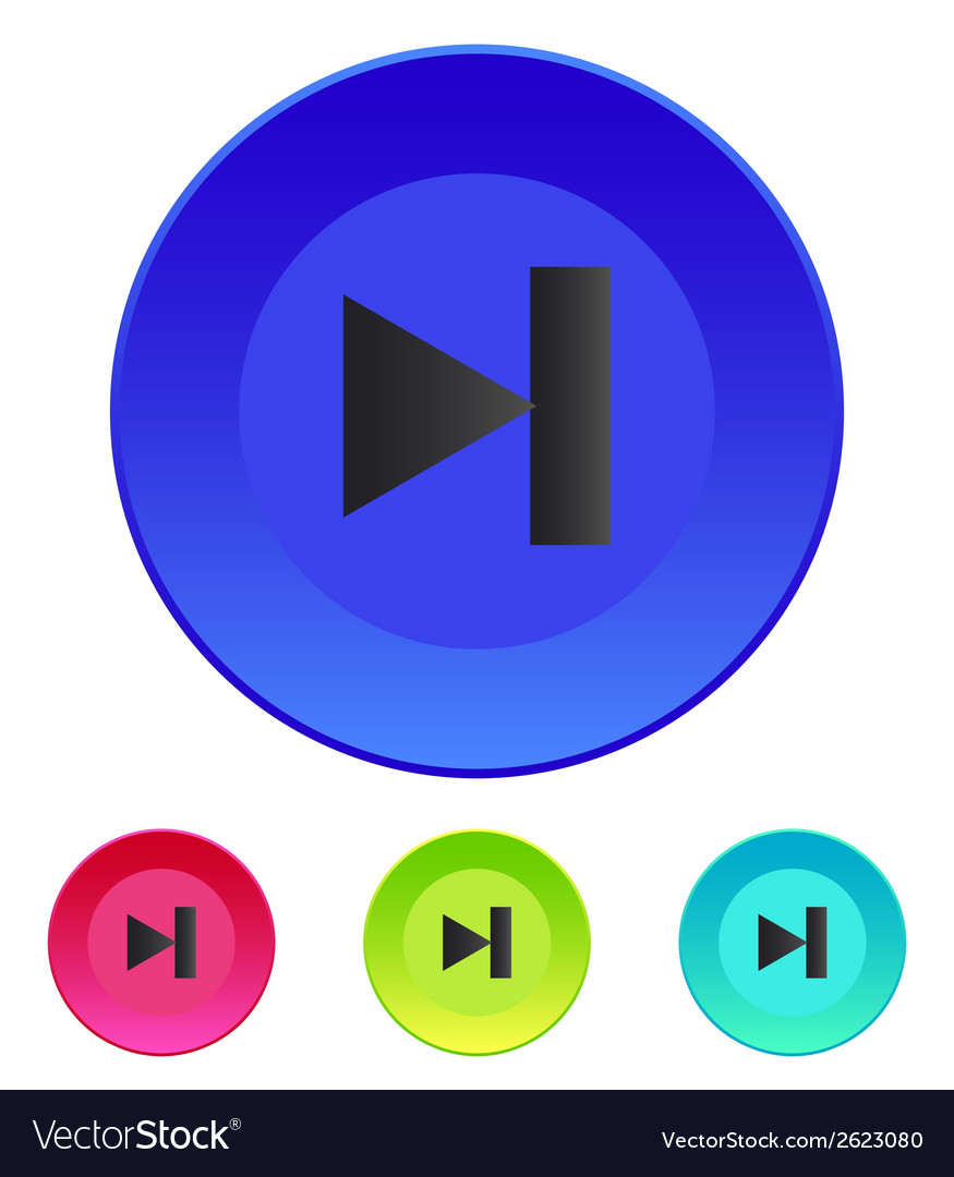 Next track web icon media player vector | Price: 1 Credit (USD $1)