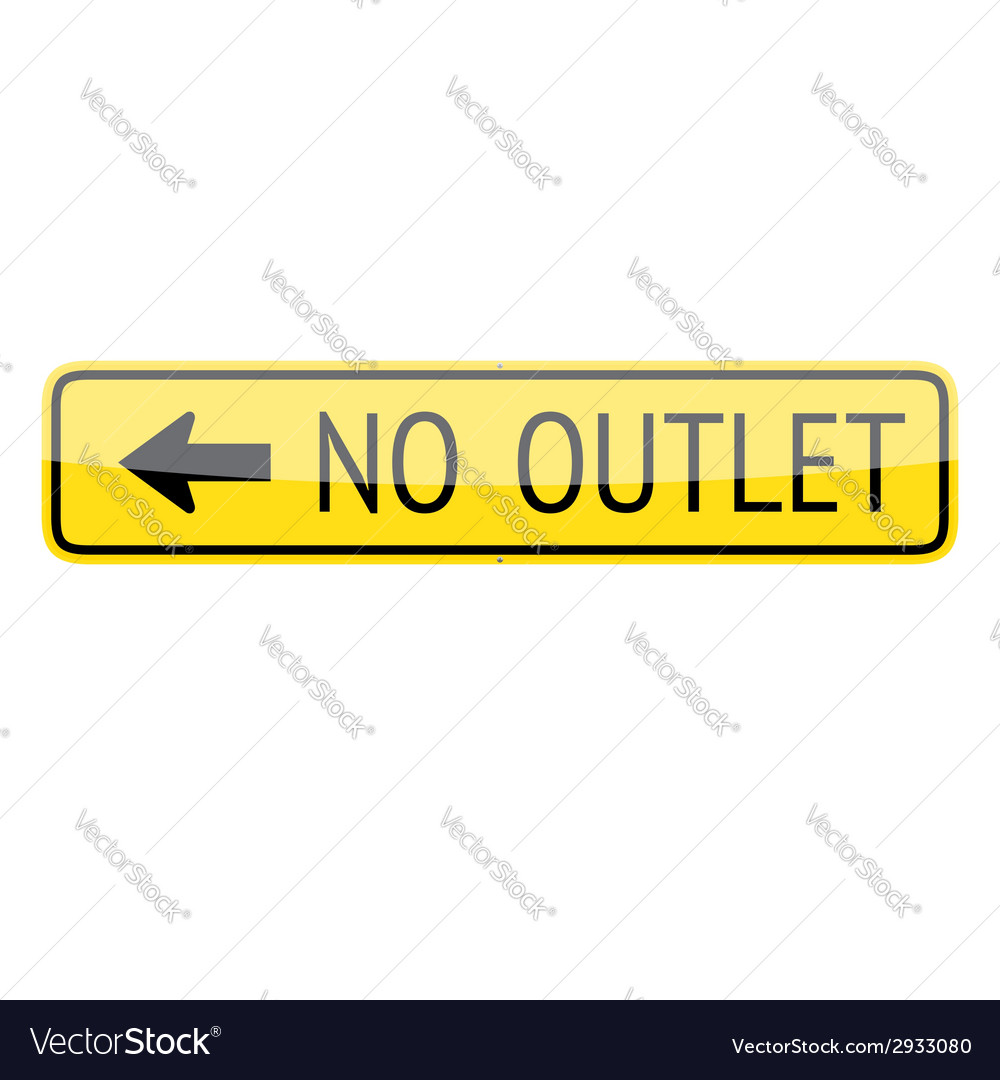 No outlet sign vector | Price: 1 Credit (USD $1)