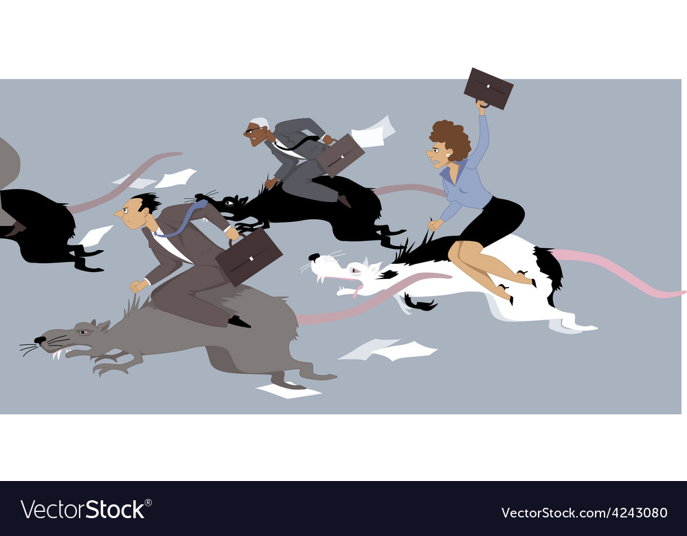 Rat race vector | Price: 1 Credit (USD $1)