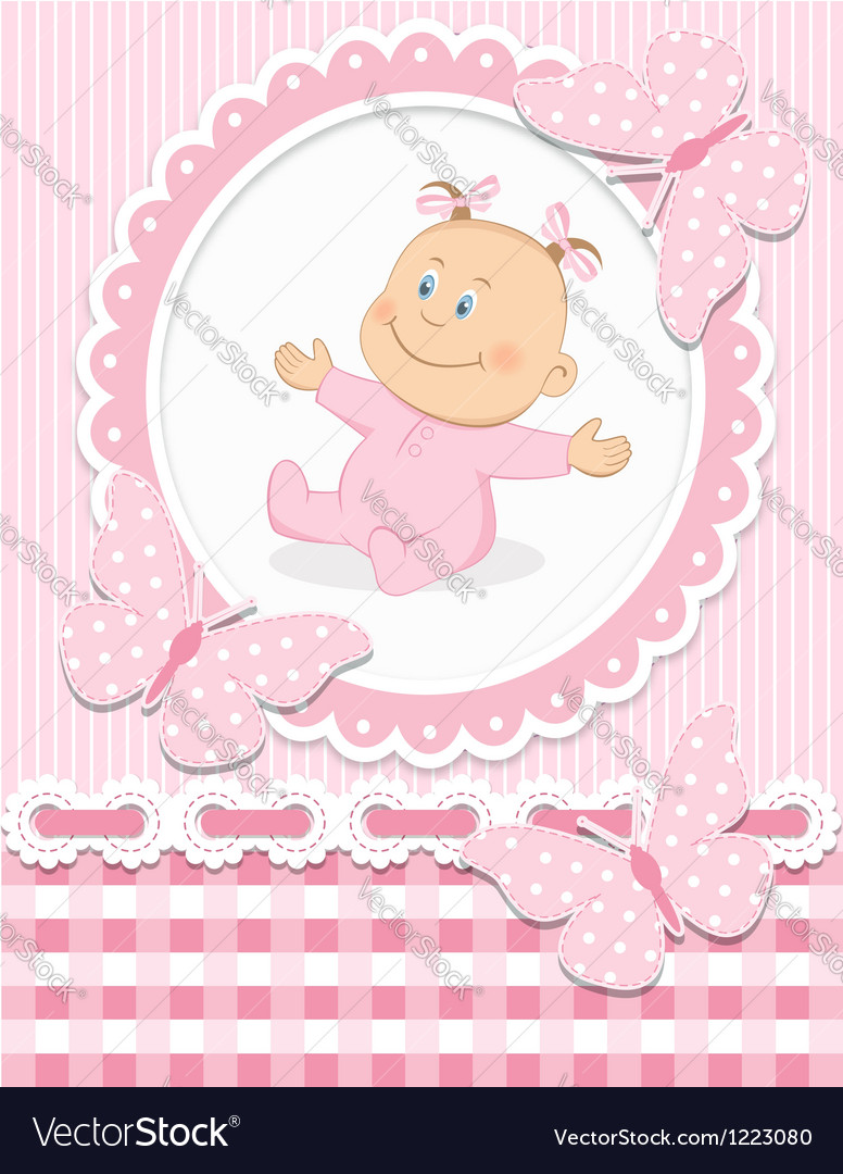 Smiling baby girl vector | Price:  Credit (USD $)