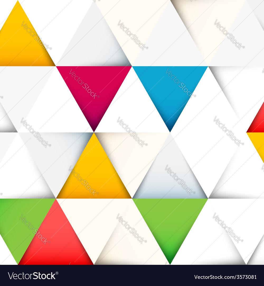 Abstract pattern with cut paper triangles vector | Price: 1 Credit (USD $1)