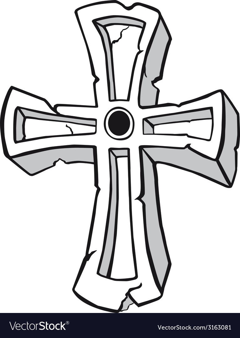 Ancient stone cross symbol vector | Price: 1 Credit (USD $1)