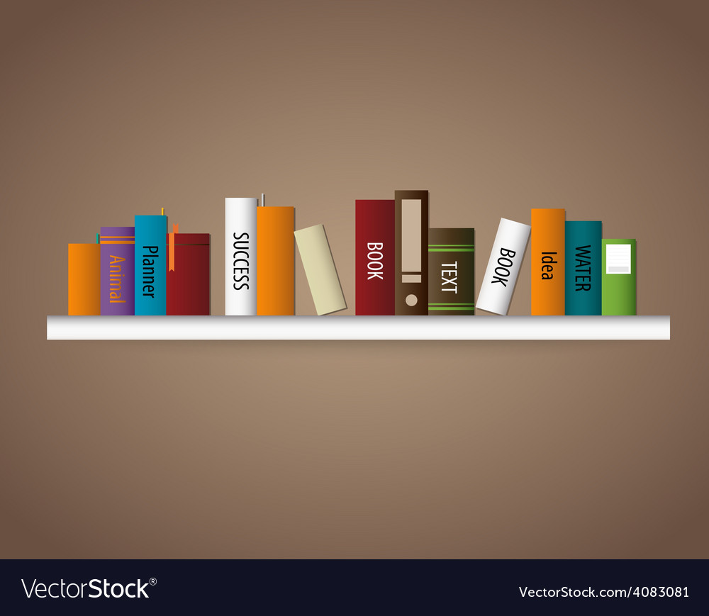 Book shelf vector   Price: 1 Credit (USD $1)