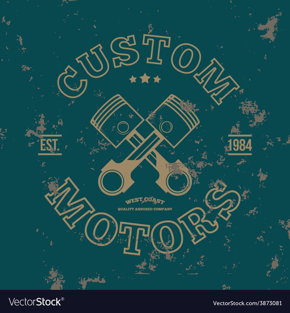 Custom motors t-shirt graphics vector | Price: 1 Credit (USD $1)