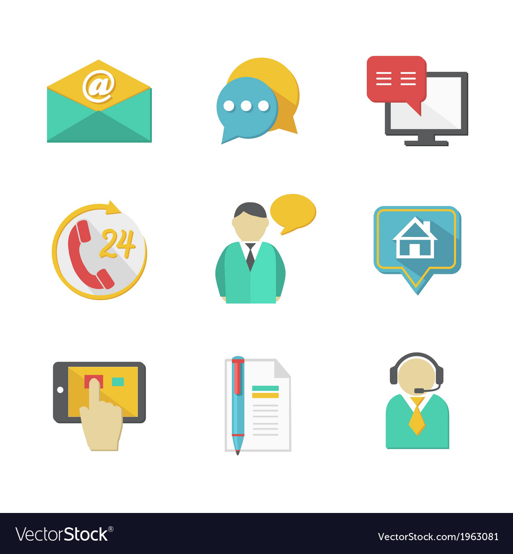 Customer helpdesk contacts design elements vector | Price: 1 Credit (USD $1)