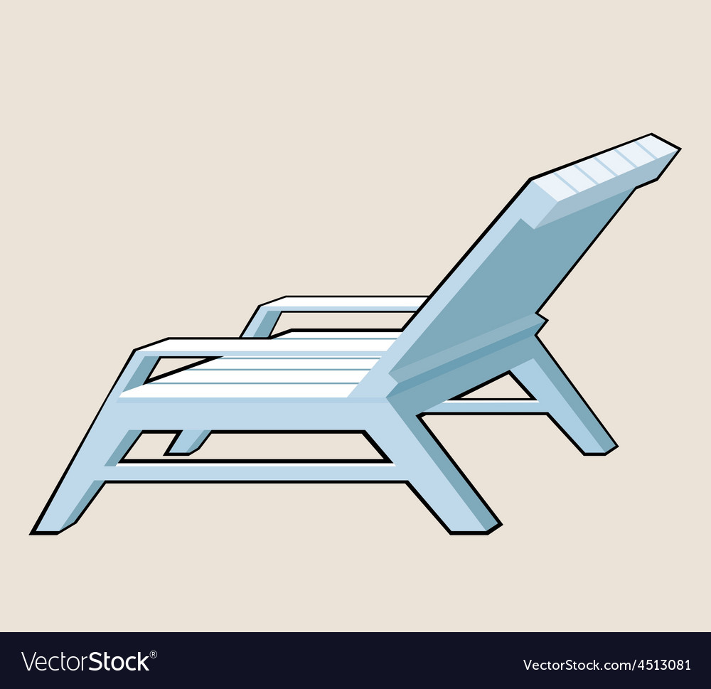 Deck chair vector | Price: 3 Credit (USD $3)