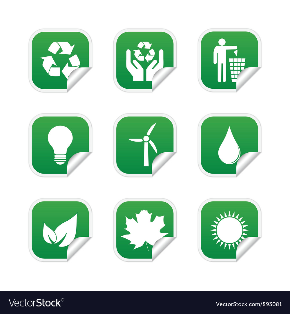 Ecological labels vector | Price: 1 Credit (USD $1)