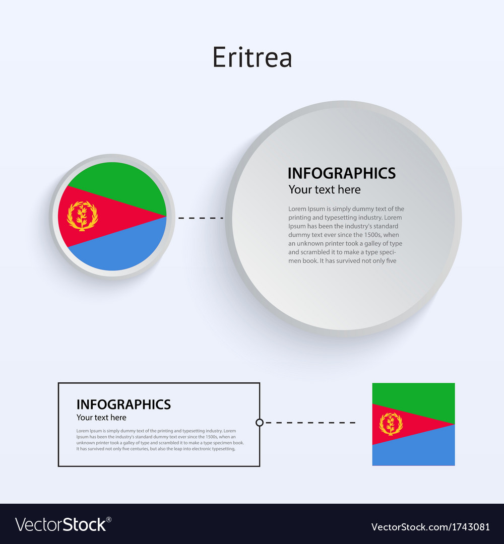 Eritrea country set of banners vector | Price: 1 Credit (USD $1)