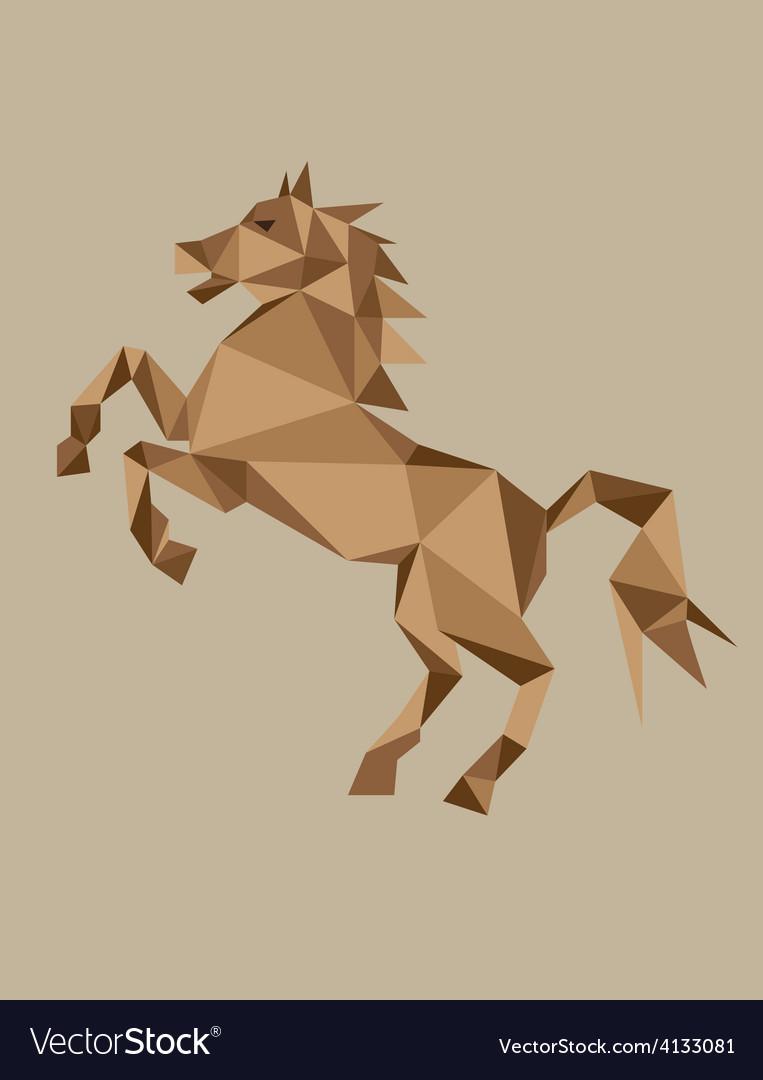 Geometric horse vector | Price: 1 Credit (USD $1)