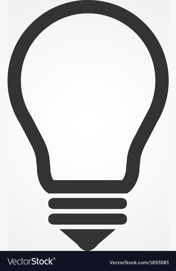 Light bulb icon flat design vector | Price: 1 Credit (USD $1)