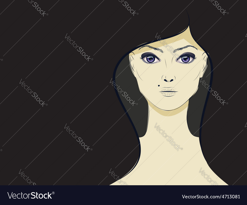 Lineart girl3 vector | Price: 1 Credit (USD $1)