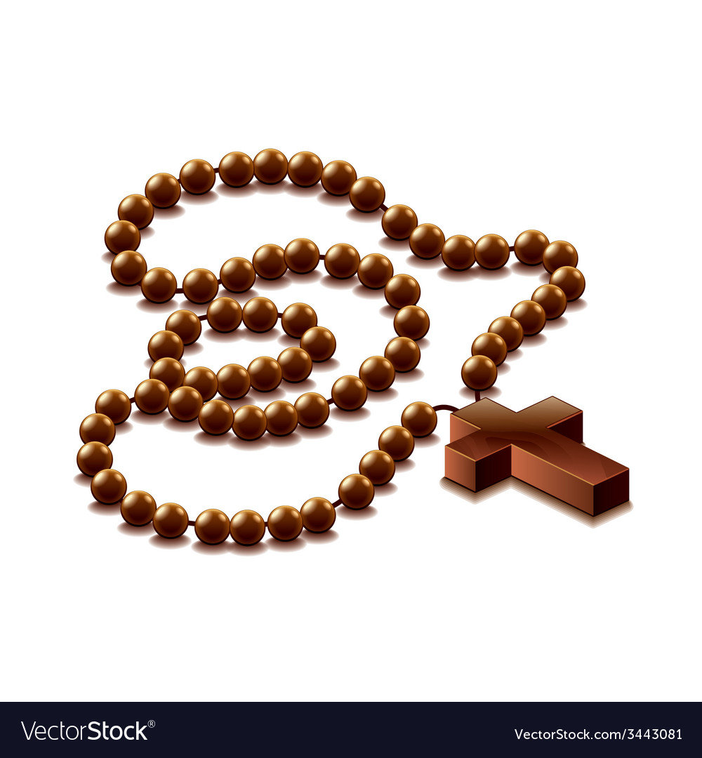 Rosary with cross isolated vector | Price: 1 Credit (USD $1)