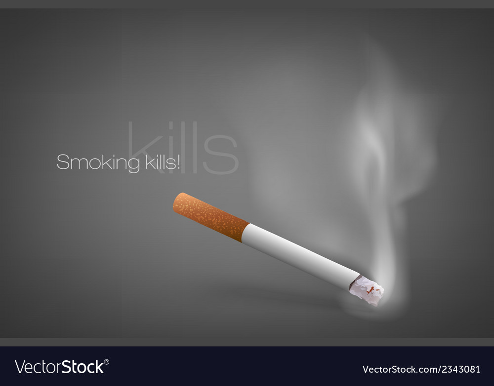 Smoldering cigarette with a smoke vector   Price: 1 Credit (USD $1)