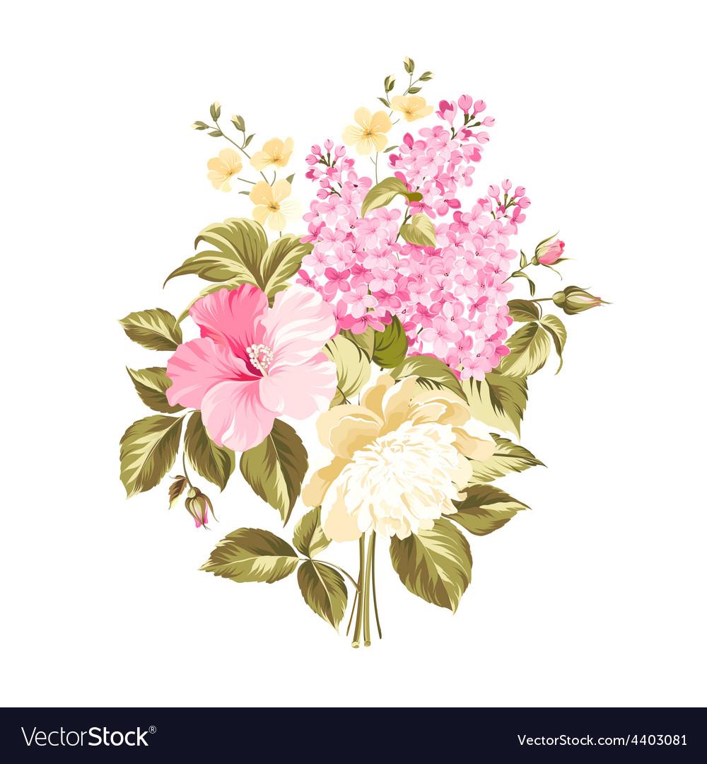 Spring syringa flowers vector | Price: 1 Credit (USD $1)