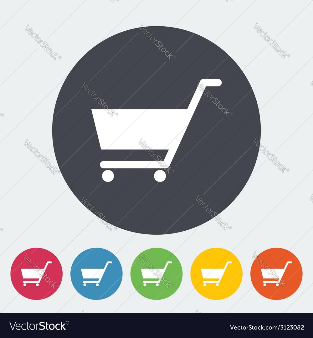 Cart single flat icon vector   Price: 1 Credit (USD $1)