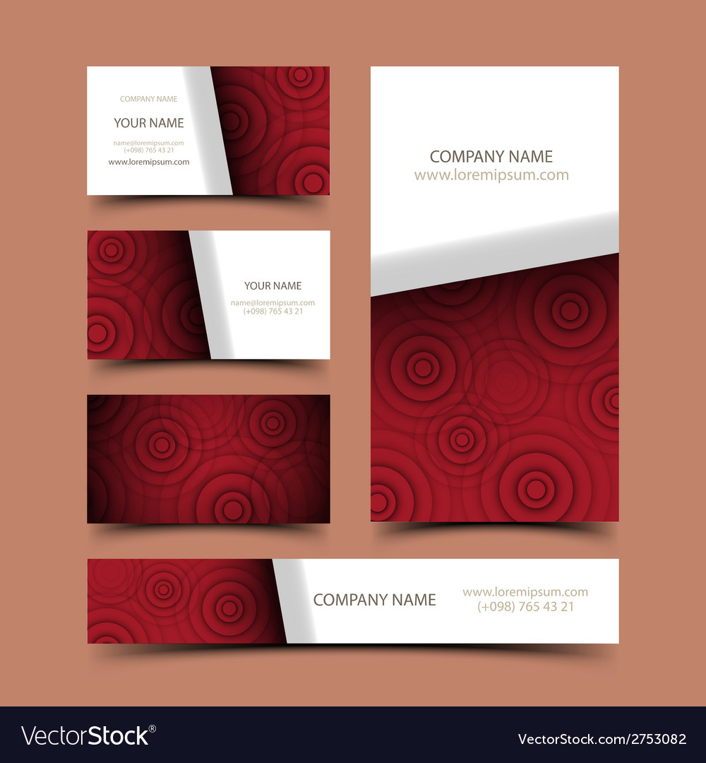 Circle business card set vector | Price: 1 Credit (USD $1)