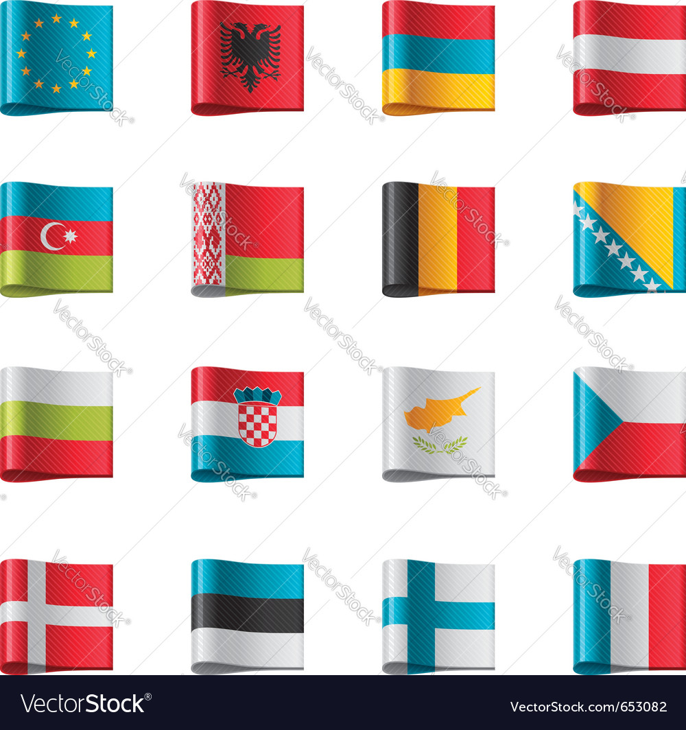 Flags - europe part 1 vector | Price: 1 Credit (USD $1)