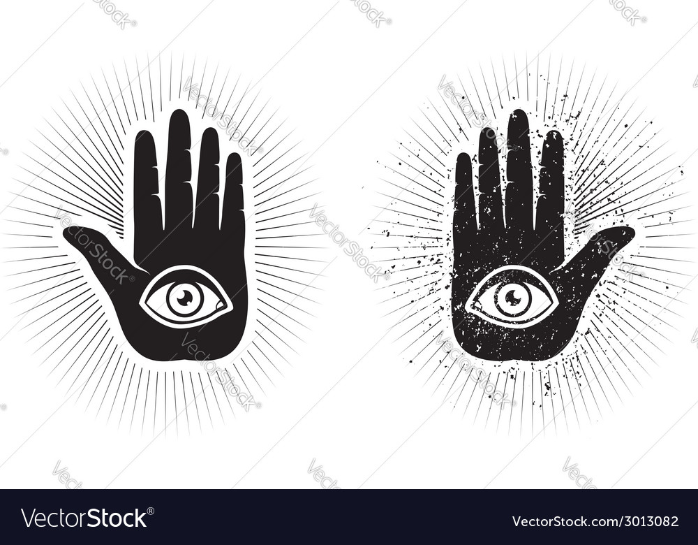 Hand and eye vector | Price: 1 Credit (USD $1)