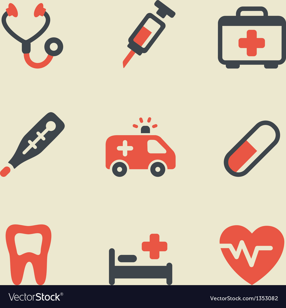 Medical black and red vector | Price: 1 Credit (USD $1)
