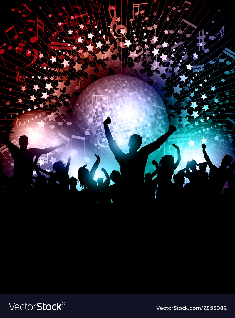 Party background with mirror ball vector | Price: 1 Credit (USD $1)