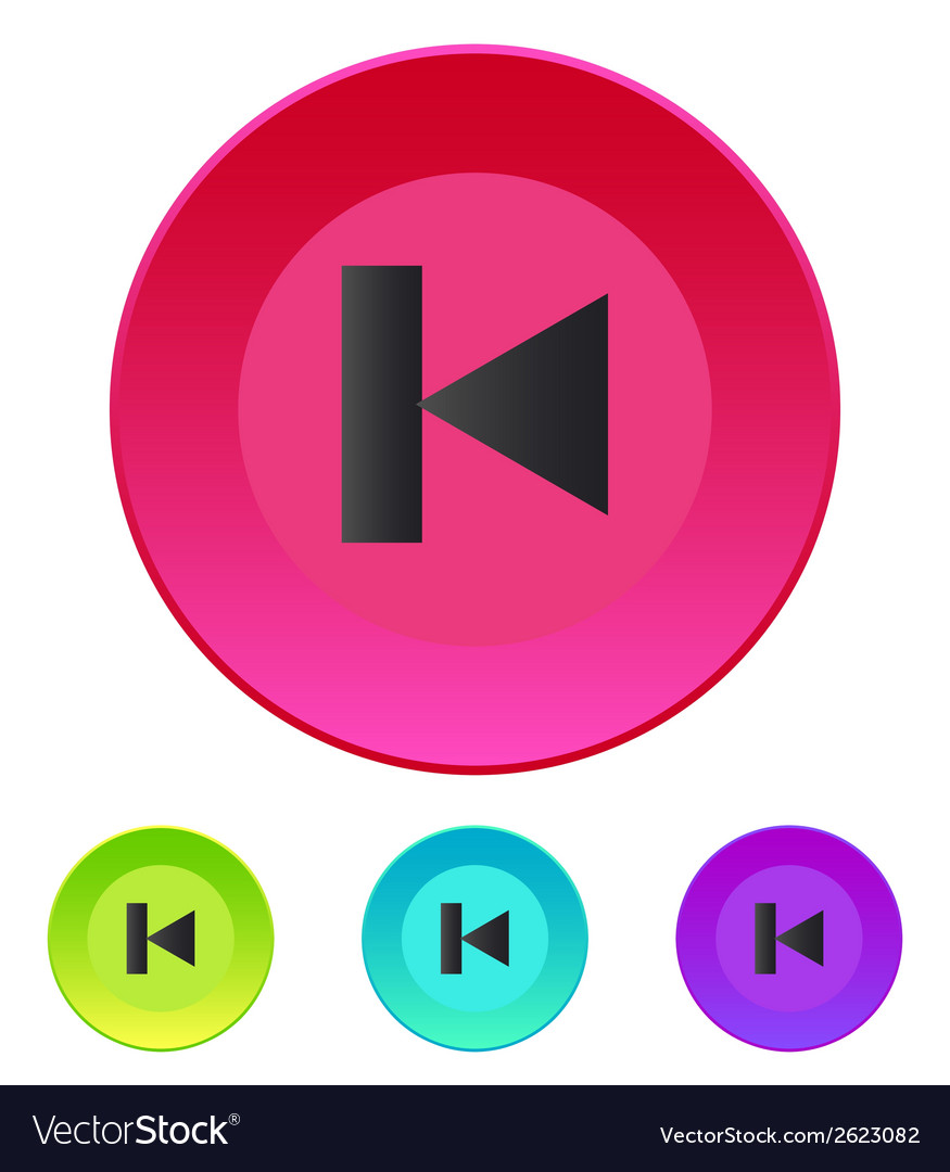 Previous track web icon media player vector | Price: 1 Credit (USD $1)
