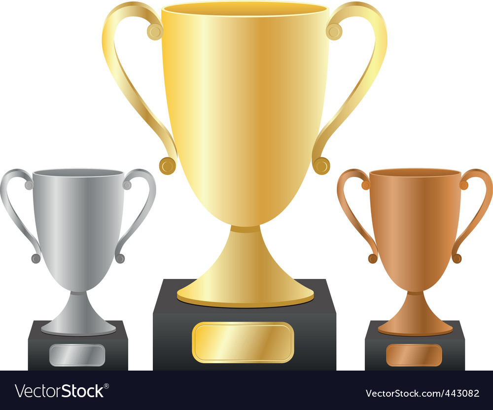 Trophy cups vector | Price: 1 Credit (USD $1)