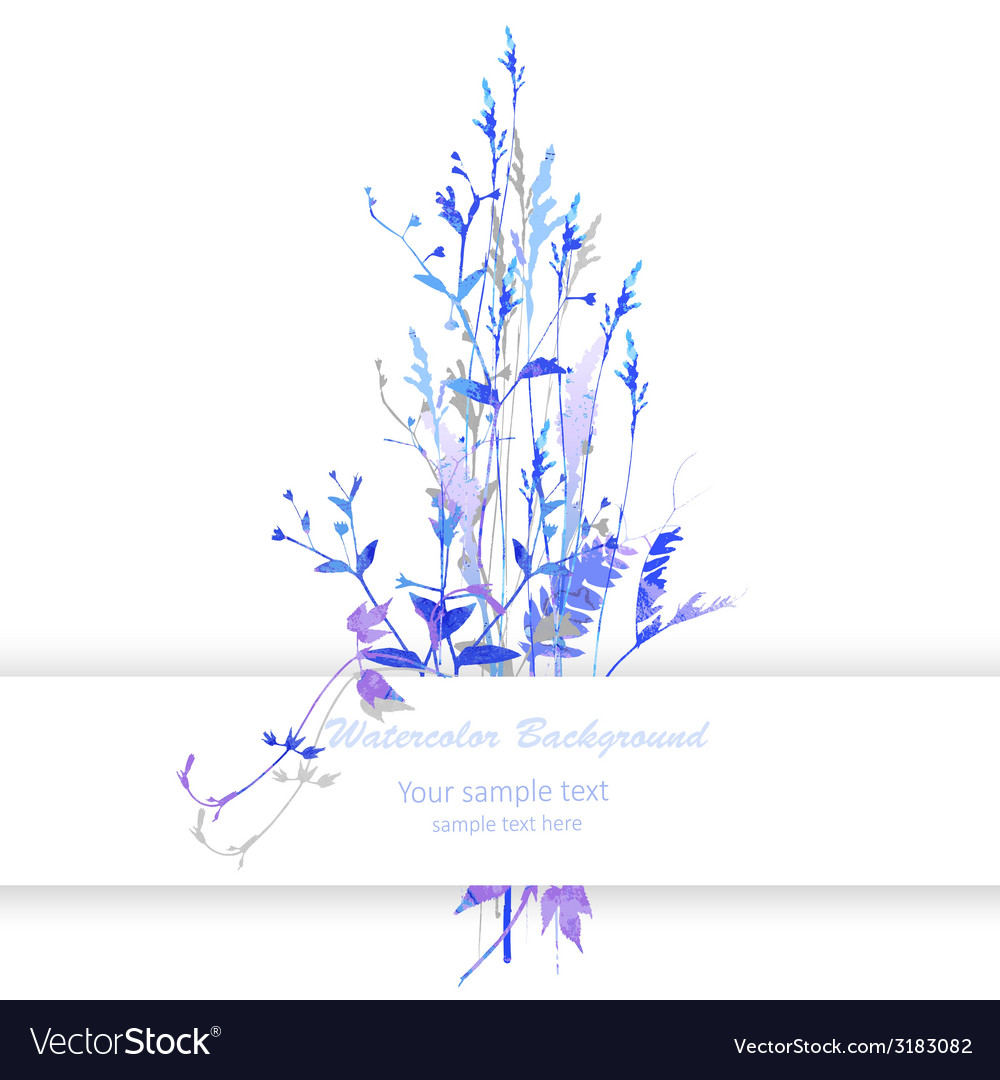 Watercolor with flowers vector   Price: 1 Credit (USD $1)