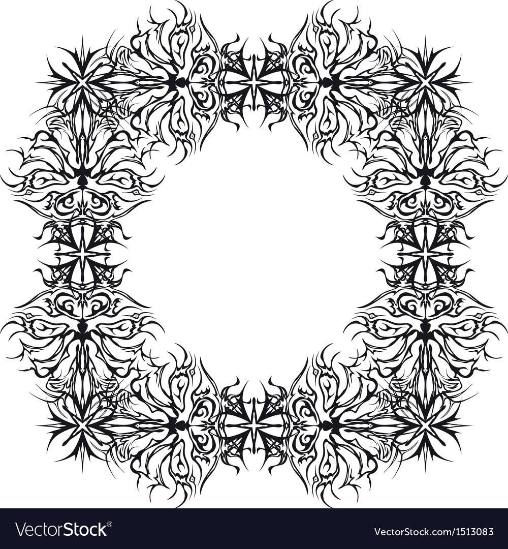 Abstract pattern frame contour vector | Price: 1 Credit (USD $1)