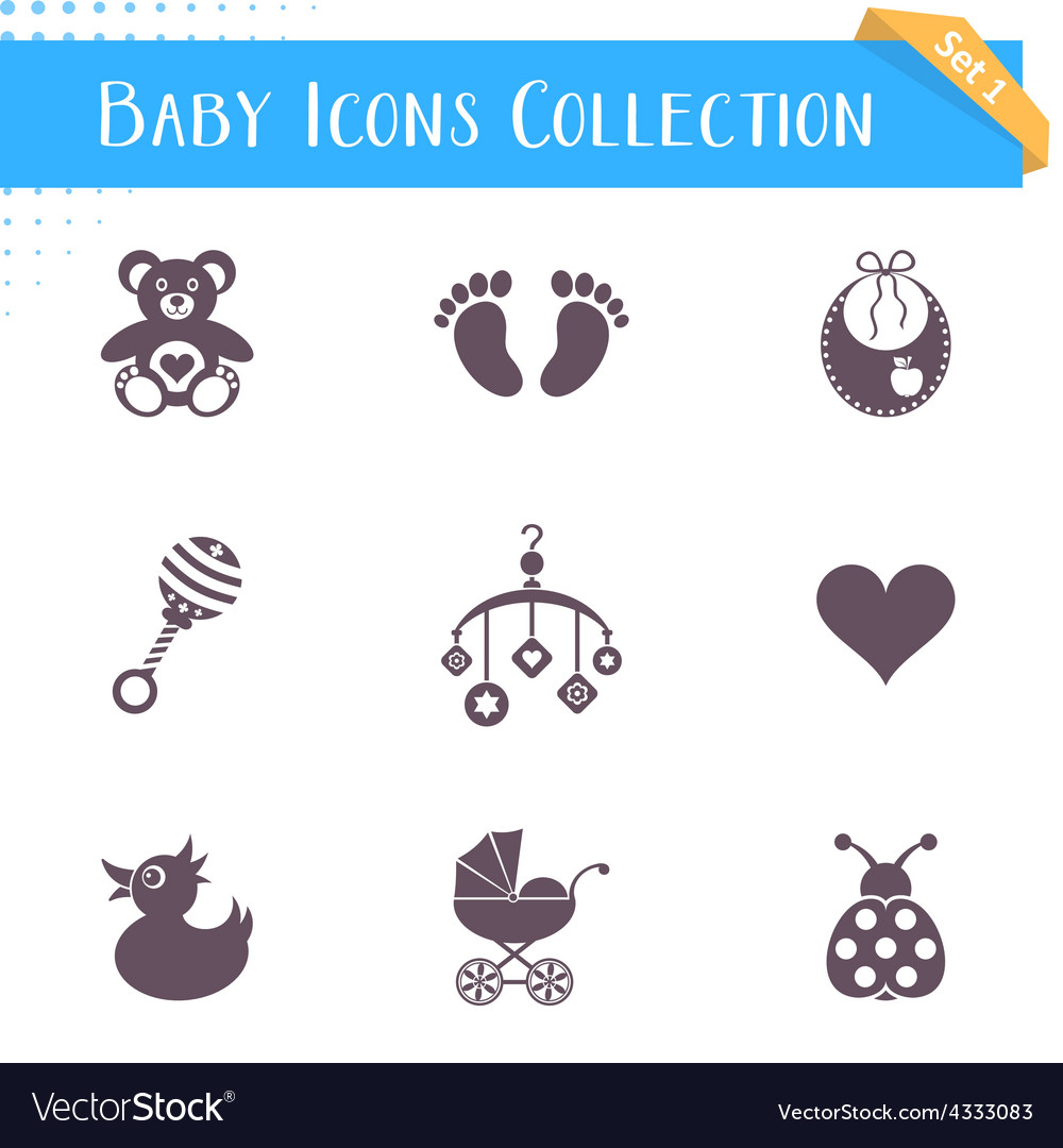 Baby icons collection vector | Price: 1 Credit (USD $1)