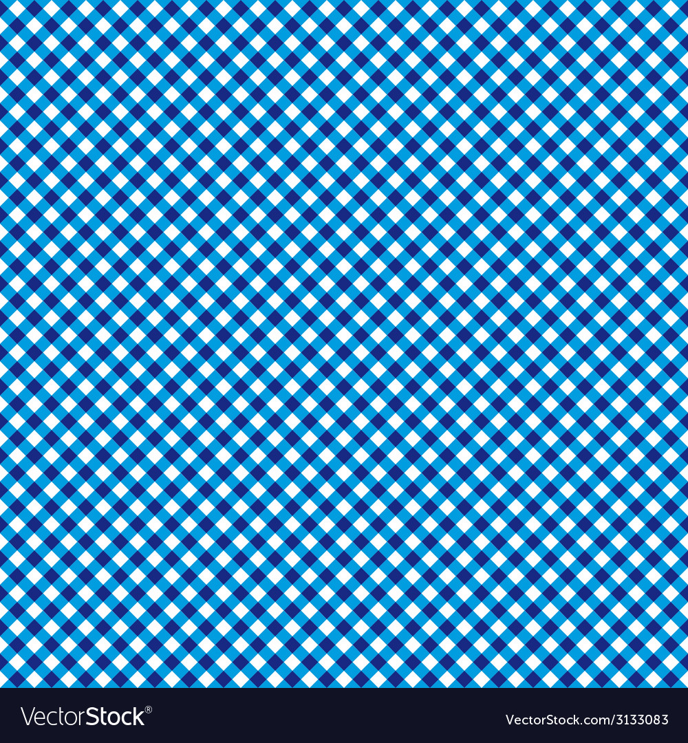 Checkered blue and white abstract seamless pattern vector