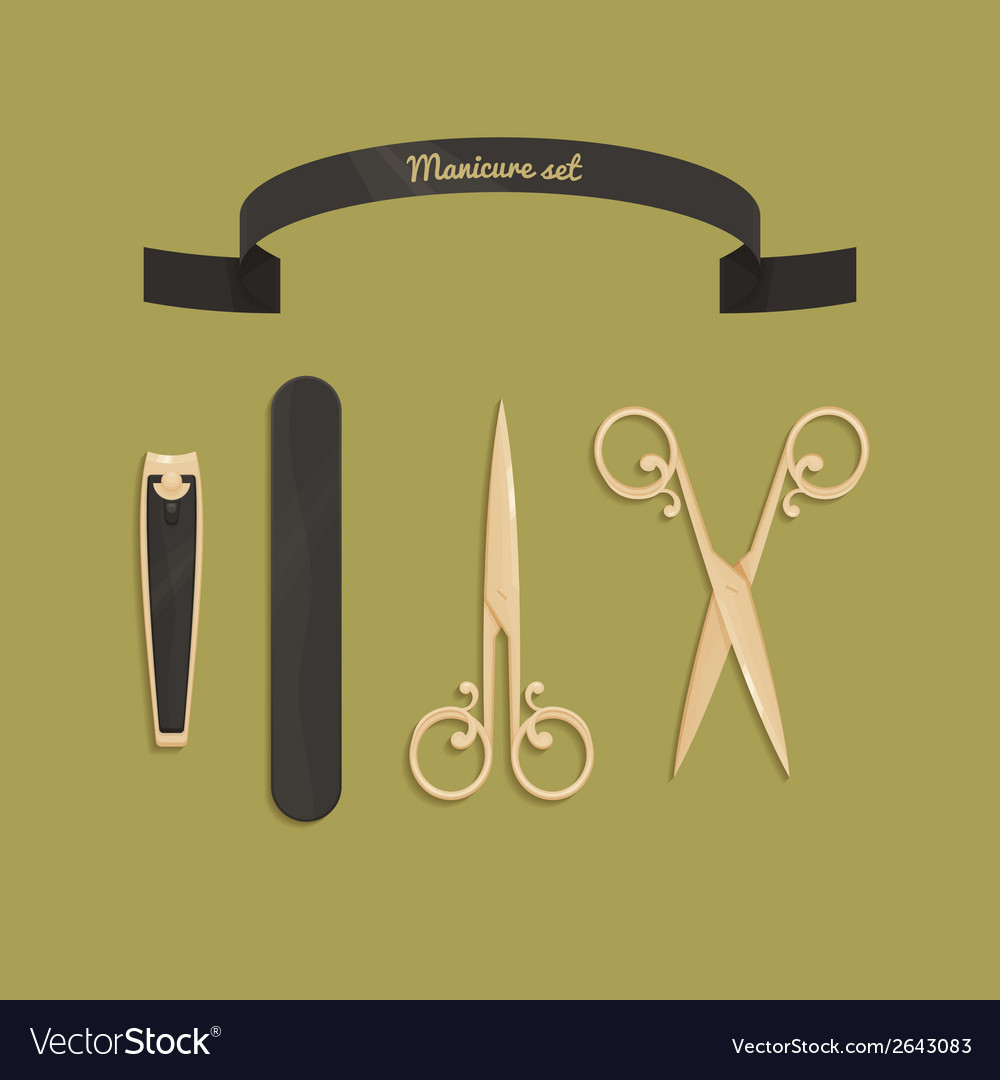 Manicure set vector | Price: 1 Credit (USD $1)