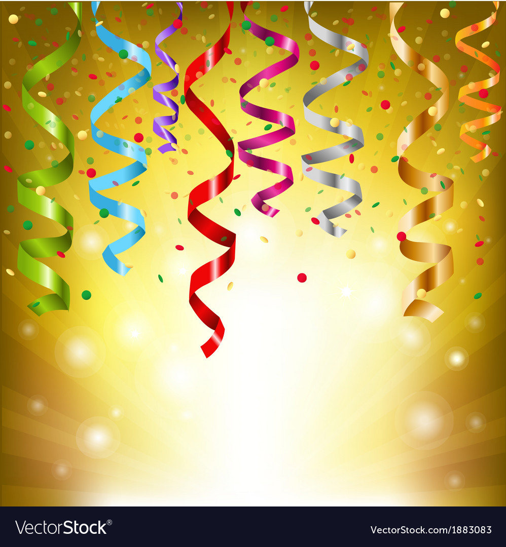 Party streamers vector | Price: 1 Credit (USD $1)