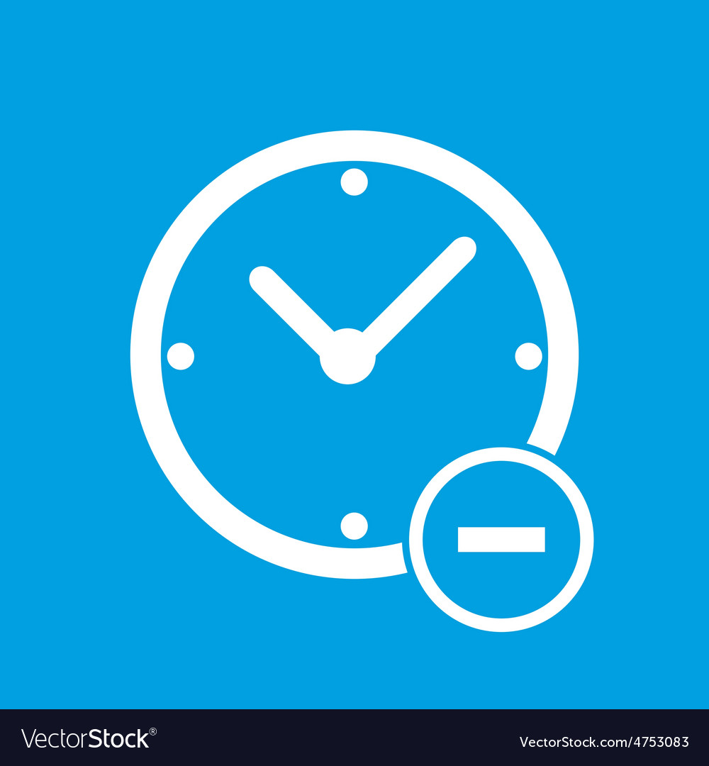 Remove time icon vector | Price: 1 Credit (USD $1)